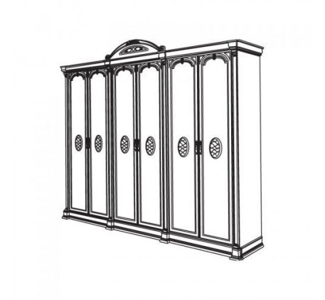 Шкаф 6 дверный Атланта арт.1-05=СГ
