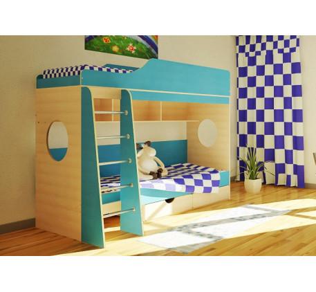 Двухъярусная кровать Орбита-5 (спальные места 800х1900 мм.)