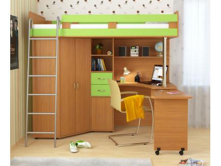 Кровать-чердак Карлсон (арт. 14.717), спальное место кровати 2000*800 мм. *С дер. лестницей Карлсон +290 руб. к стоимости.