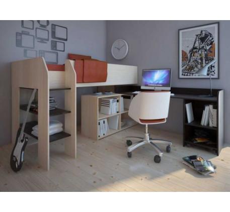 Детская мебель Теремок-2 (Техно), спальное место кровати 200х90 см. Стол справа (на фото) или слева.