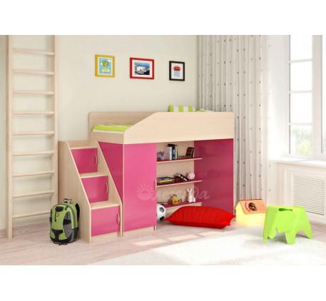 Кровать-чердак Легенда-11.5 для девочки, спальное место 180х80 см