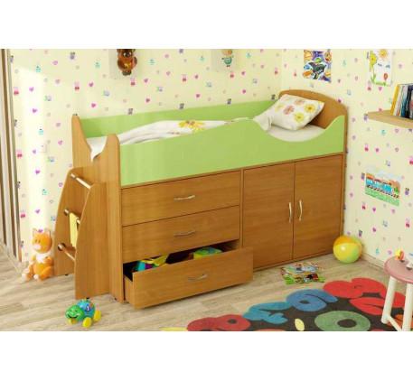 Детская кровать-чердак Карлсон Микро-201 (арт. 15.8.201), спальное место кровати 1600*700 мм.