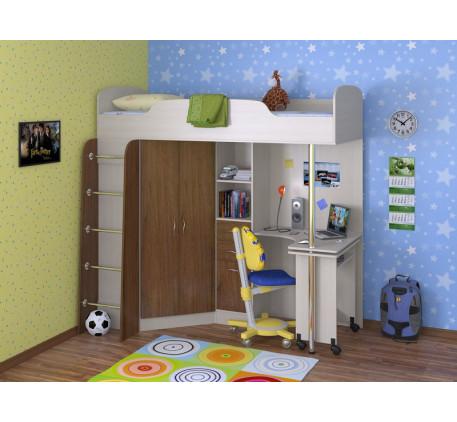 Кровать-чердак Теремок-1, спальное место 190х80 см