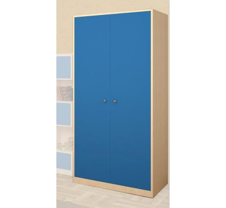 Шкаф 2 дверный Астра 60 с штангой и колонкой полками