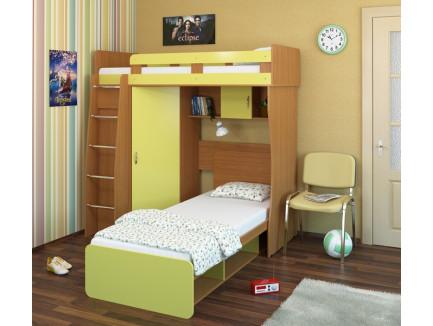 Детская Карлсон М3 (арт. 14.710+14.101) с нижней кроватью, спальное место кроватей 1860*700 и 2000*800 мм.