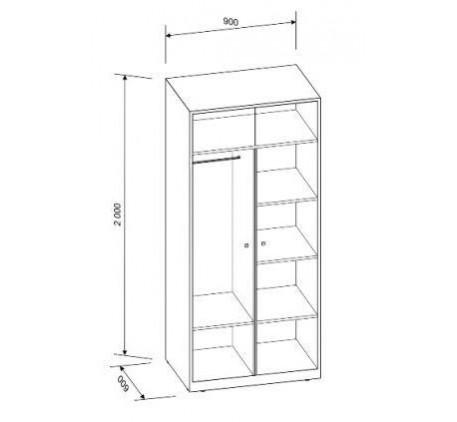 Двухъярусная кровать Астра-3 с шкафом