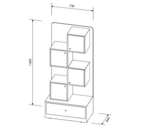 Кровать-чердак Астра-9.7 с выдвижным столом, спальное место 160х80 см