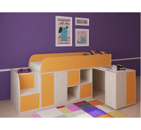 Кровать-чердак Астра-Мини, спальное место 190х80 см