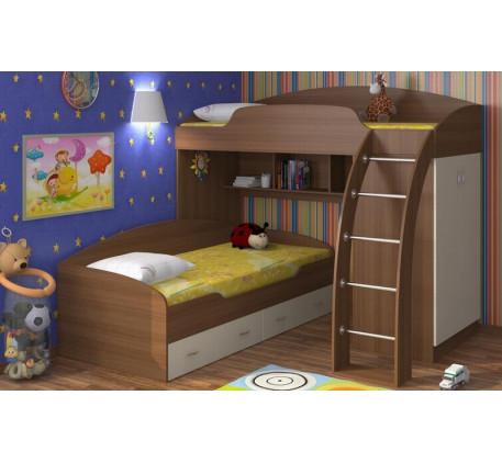 Двухъярусная кровать Соня с ящиками, спальные места 190х80 см