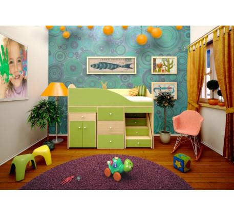 Кровать-чердак Вжик, спальное место 160х70 см