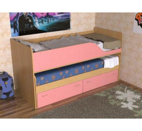 Детская выдвижная кровать Дуэт-2 для двух детей с выкатным спальным местом с ящиками