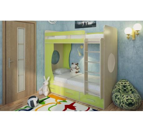 Двухъярусная кровать Милана-1, спальные места 190х80 cм