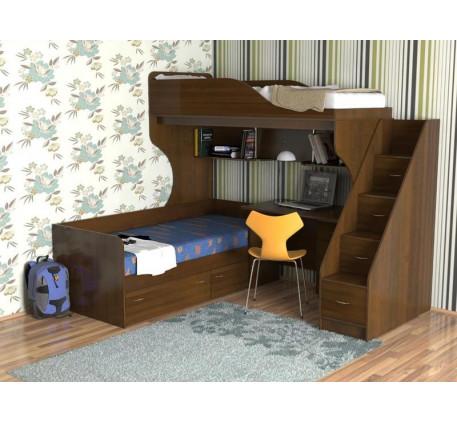 Кровать-чердак с кроватью внизу Дуэт-5