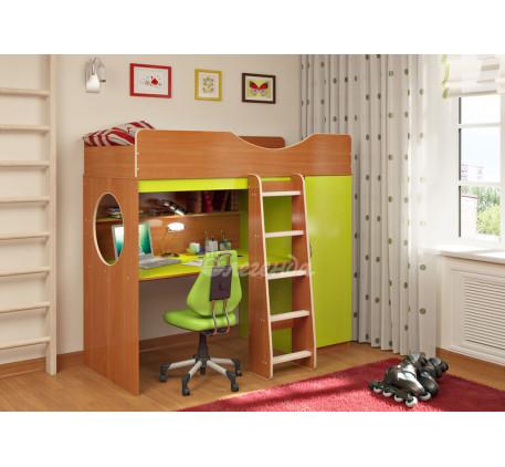 Кровать-чердак для подростка Легенда-9.1 со столом, спальное место 180х80 см