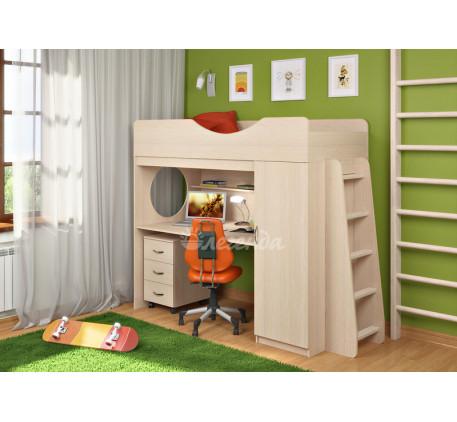 Кровать-чердак с рабочей зоной Легенда-9.2, спальное место 180х80 см