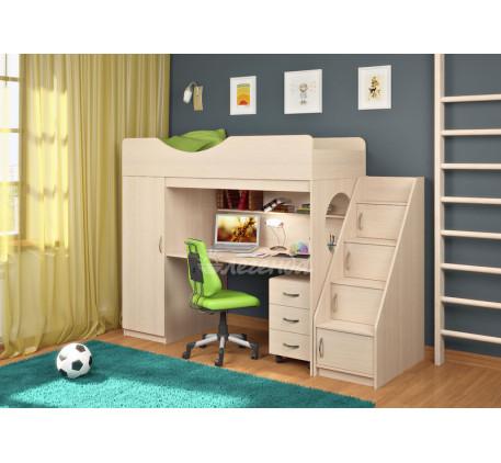 Кровать-чердак со столом и шкафом Легенда-9.3, спальное место 180х80 см