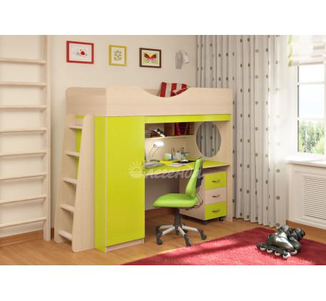 Детская кровать-чердак с рабочей зоной Легенда-9.2, спальное место 180х80 см