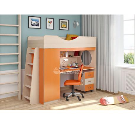 Кровать-чердак с рабочей зоной для подростка Легенда-9.2, спальное место 180х80 см