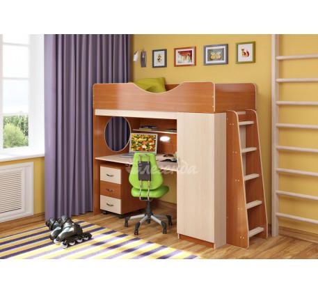 Детская кровать-чердак со столом Легенда-9.2, спальное место 180х80 см