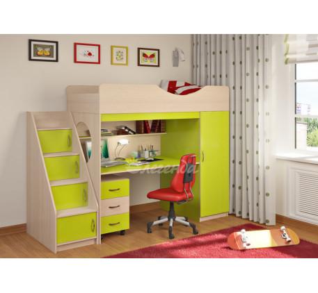 Кровать-чердак для детей от 5 лет Легенда-9.3, спальное место 180х80 см