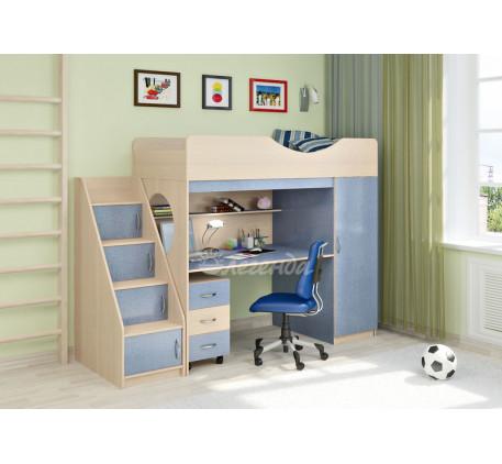 Кровать-чердак для мальчика Легенда-9.3, спальное место 180х80 см