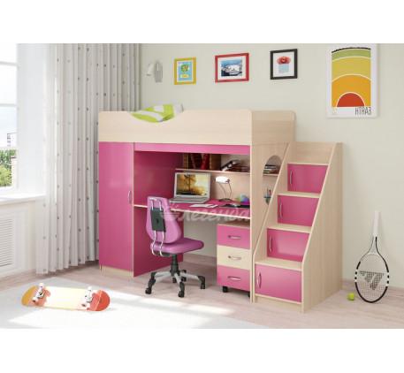 Кровать-чердак для девочки Легенда-9.3, спальное место 180х80 см