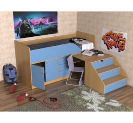 Кровать-чердак Кузя-2, Кузя-2 с горкой (детская «Славмебель»)
