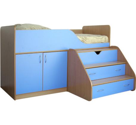 Кровать-чердак Кузя, спальное место 160х80 см