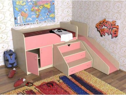 Кровать с горкой Кузя, спальное место кровати 160х80 см