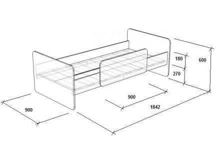 Двухъярусная кровать Легенда-3.4 с кроватью Л-14 внизу, спальные места 180х80 см
