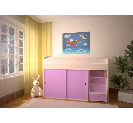 Кровать-чердак Малыш (детская «Ярофф Мебель»)