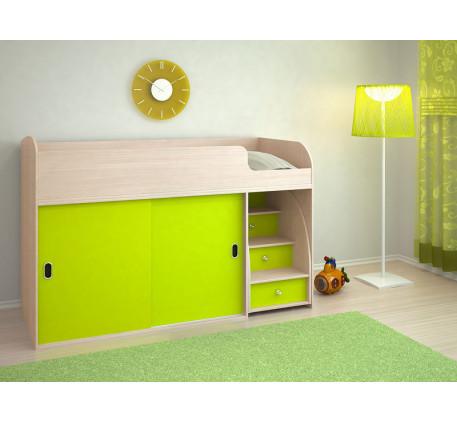 Детская кровать-чердак Малыш Купе, спальное место 160х70 см