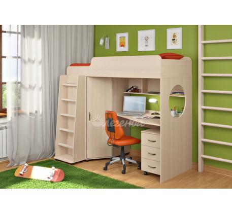 Кровать-чердак для детей Легенда-4.2 с тумбой, спальное место 190х80 см