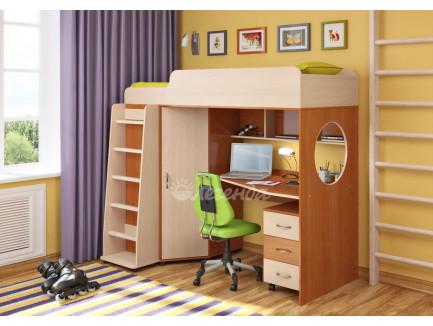 Детская кровать-чердак Легенда-4.2 с тумбой, спальное место 190х80 см