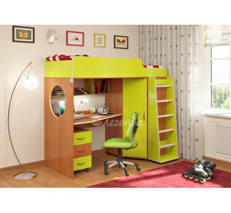 Кровать-чердак для детей от 3 лет Легенда-4.2 с тумбой, спальное место 190х80 см