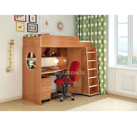 Кровать-чердак для подростка Легенда-4.2 с тумбой, спальное место 190х80 см