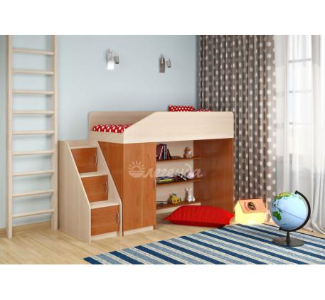 Кровать-чердак для детей Легенда-11, спальное место 180х80 см