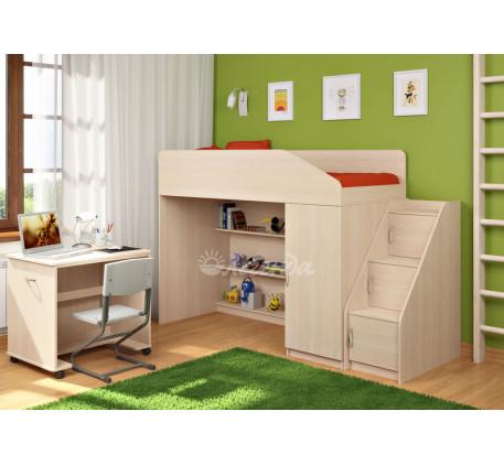 Кровать-чердак Легенда-11.6 со столом Л-02, спальное место 180х80 см