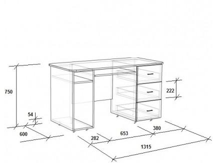 Детская кровать-чердак с рабочей зоной Легенда-11.2 со столом Л-01, спальное место 180х80 см