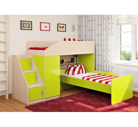Детская кровать-чердак Легенда-11.7 с кроватью Легенда-14 внизу, спальные места 180х80 см