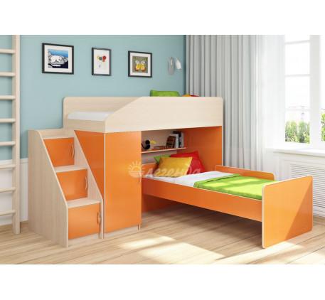 Кровать-чердак для детей Легенда-11.7 с кроватью Легенда-14 внизу, спальные места 180х80 см