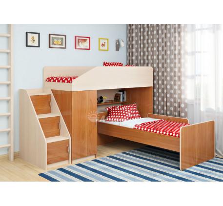 Кровать-чердак Легенда-11.7 с кроватью внизу Легенда-14 , спальные места 180х80 см