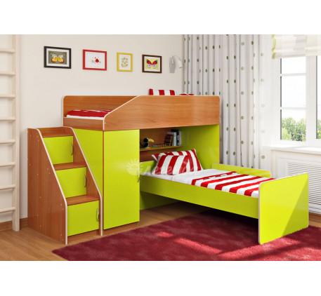 Кровать-чердак для двоих детей Легенда-11.7 с кроватью Легенда-14 внизу, спальные места 180х80 см