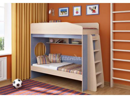 Двухъярусная кровать для мальчиков Легенда-10.1, спальные места 180х80 см