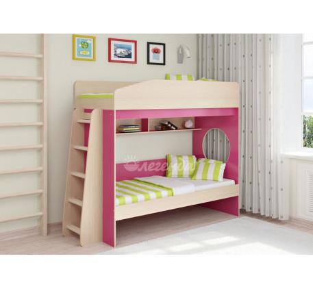 Двухъярусная кровать для девочек Легенда-10.1, спальные места 180х80 см