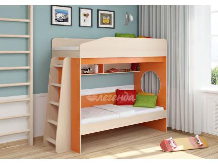 Двухъярусная кровать для двоих детей Легенда-10.1, спальные места 180х80 см