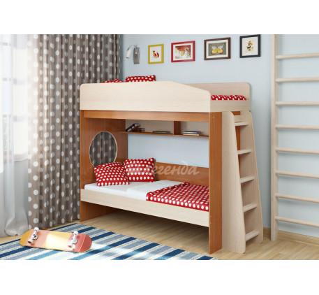 Двухъярусная кровать для подростков Легенда-10.1, спальные места 180х80 см
