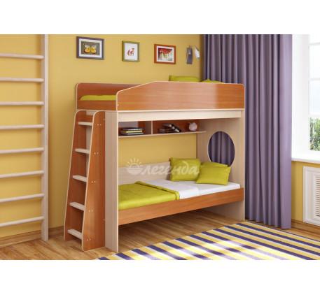 Двухъярусная кровать подростковая Легенда-10.1, спальные места 180х80 см