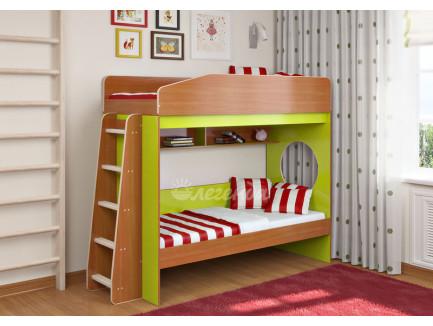 Детская двухъярусная кровать Легенда-10.1, спальные места 180х80 см