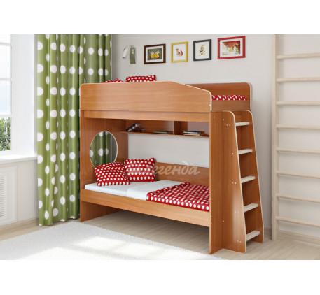 Детская двухъярусная кровать с бортиками Легенда-10.1, спальные места 180х80 см